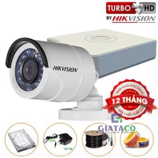 Trọn bộ 01 Camera Trụ HIKVISION Turbo HD 720P