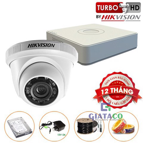 Trọn bộ 01 Camera Dome HIKVISION Turbo HD 720P