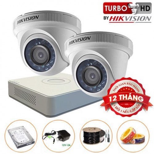 Trọn bộ 02 Camera Dome HIKVISION Turbo HD 720P