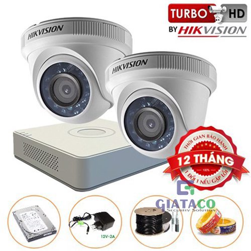 Trọn bộ 02 Camera Dome HIKVISION Turbo HD 720P